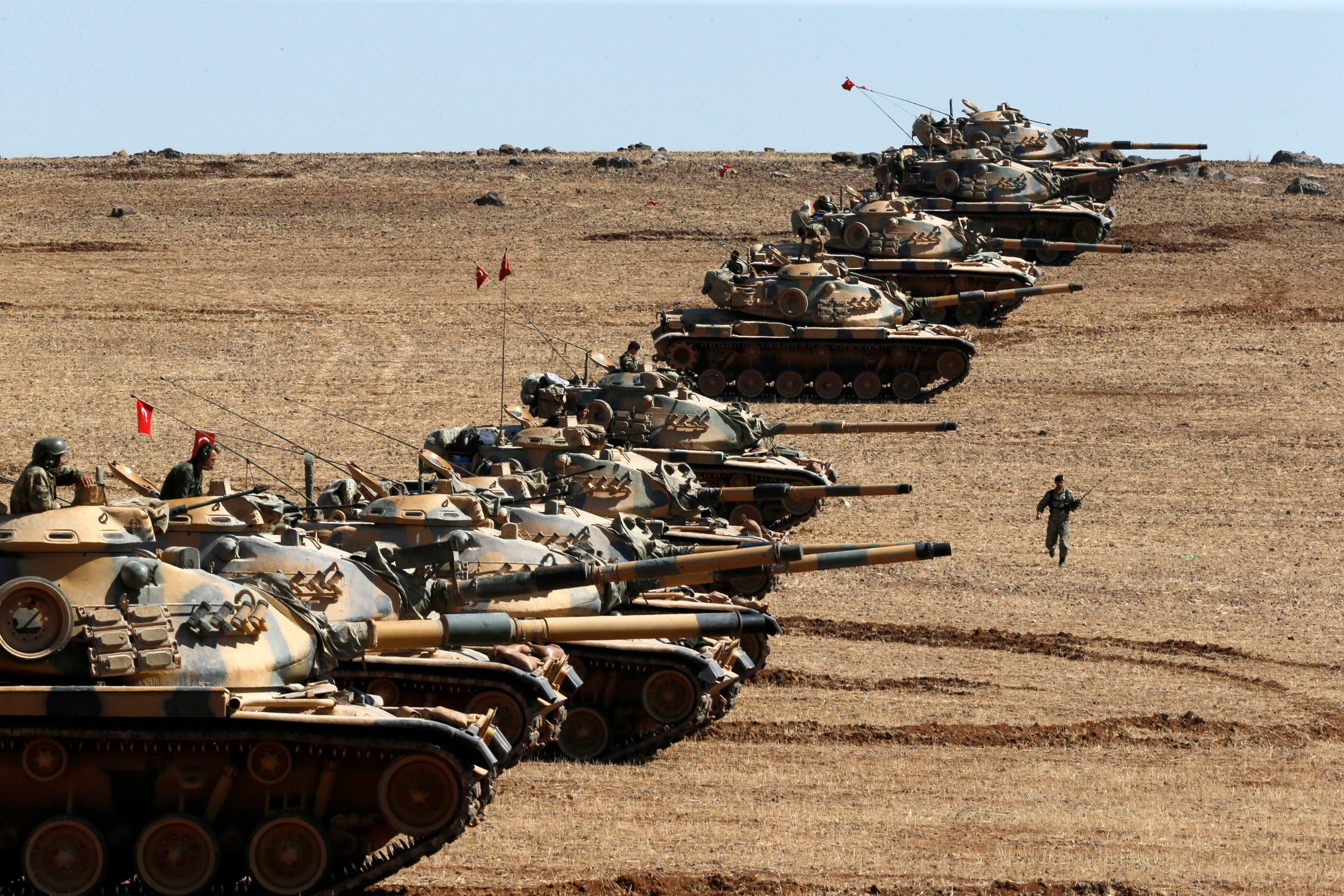 Turkish Tanks Syrian Border