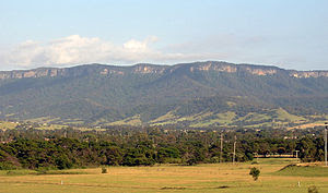 Arra Escarpment west of Albion Park
