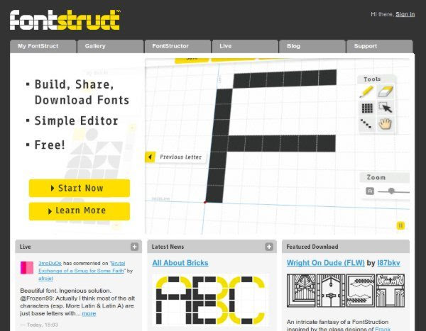 Fontstruct +14 Herramientas web para trabajar con tipografías