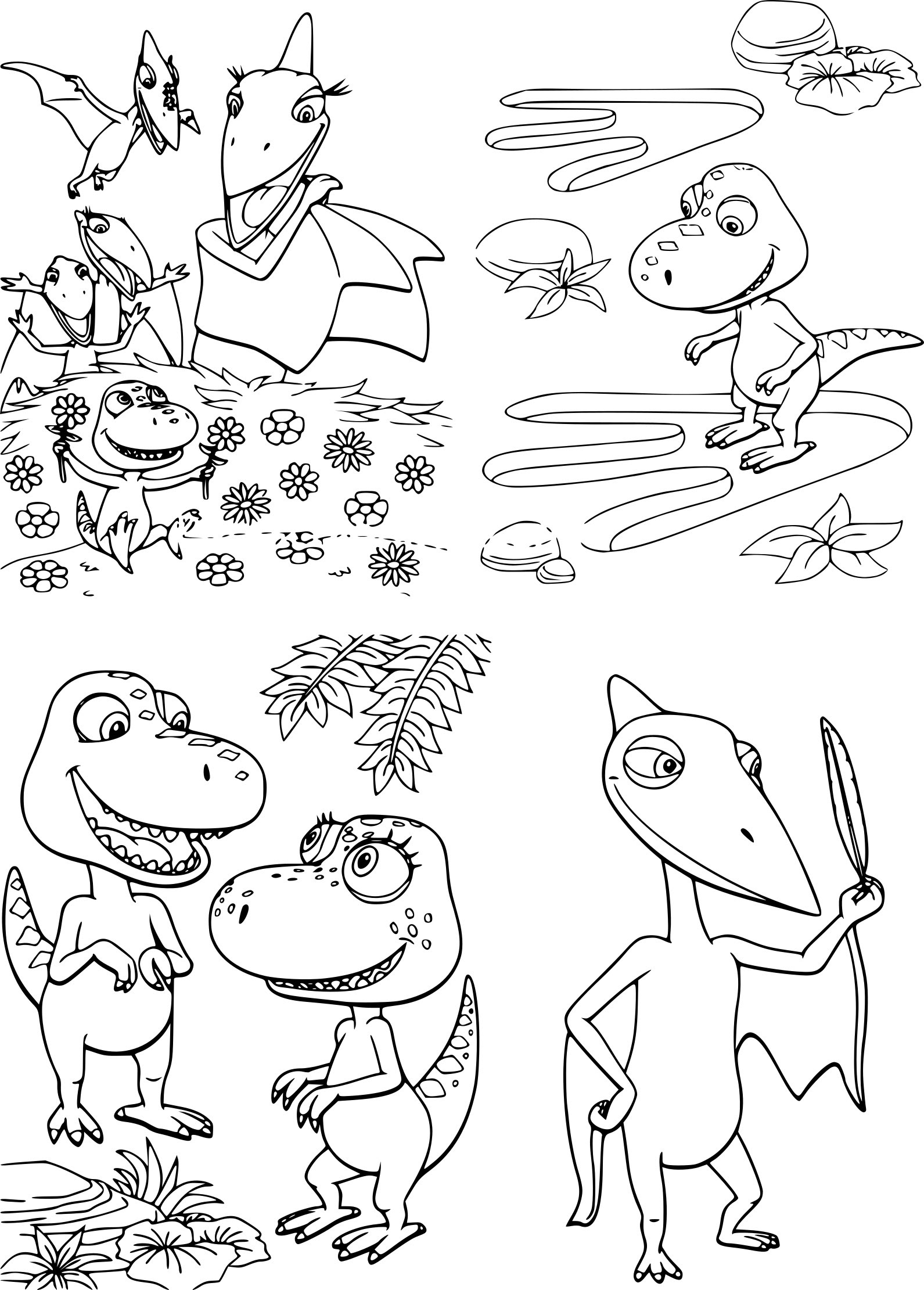 Inspiration Coloriage A Imprimer Dino Train