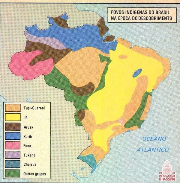 Mapa 3 Povos Indígenas do Brasil na época do Descobrimento