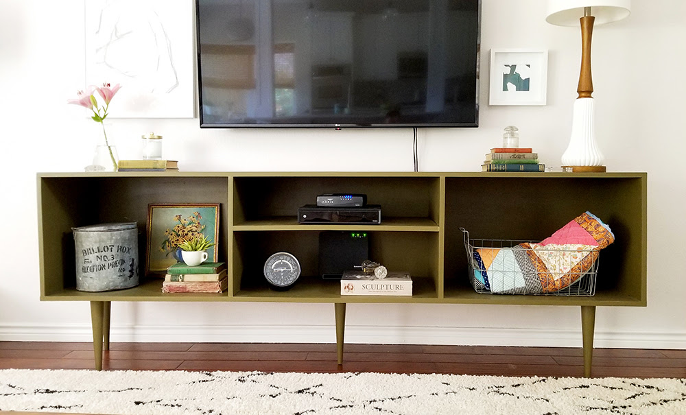 Diy Mid Century Modern Media Console Video Hearts And Sharts