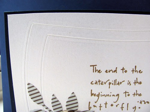 Close up of embossing