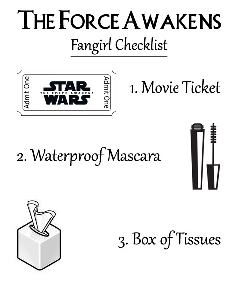 The Force Awakens Fangirl Checklist | Anakin And His Angel