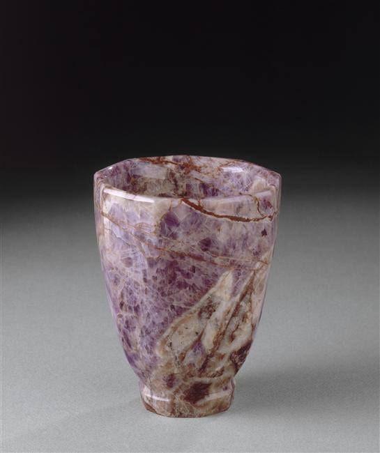 Vase à neuf pans en améthyste, acquis par Louis XIV en 1683 – Paris, XIVe siècle (?) , - Paris, Musée du Louvre