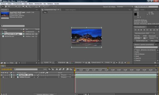 Adobe After Effects CS4 - Screenshot