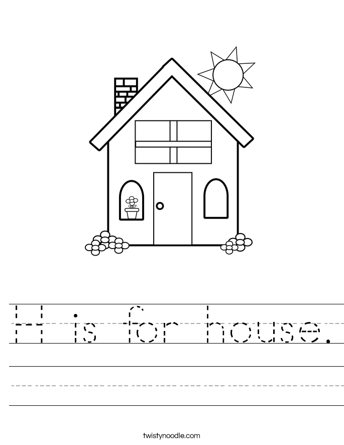 h is for house 2_worksheet