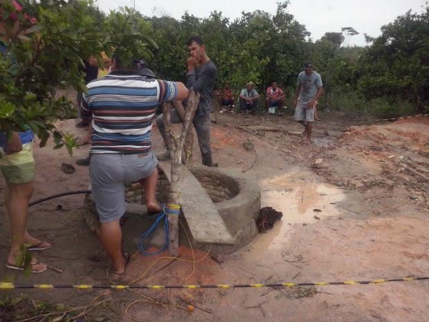 Cisterna possui cerca de 25 metros de profundidade (Foto: Acervo pessoal)