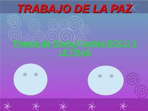 """LA PAZ alumnado de 6º delCEIP """" Carazony"""""""