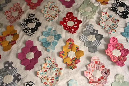 Hexagon Quilt Progress