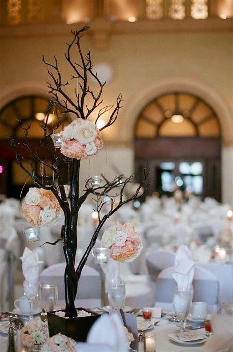"""White, silver and soft peach wedding decor.   """"I Do"""