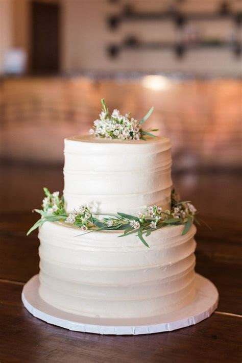 2 tier wedding messy buttercream cake from Sweet Treets at