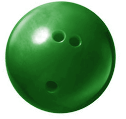 Image result for green bowling ball