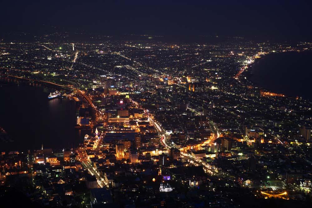 ゆんフリー写真素材集 No 4140 函館山の夜景 日本 北海道