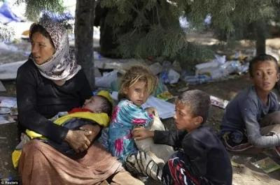 """""""伊斯兰国""""继日前出兵屠杀雅兹迪族人,近日又传出已掳走300名雅兹迪妇女,逼迫其怀孕以""""清洗""""雅兹迪血统。(图撷取自每日邮报)"""