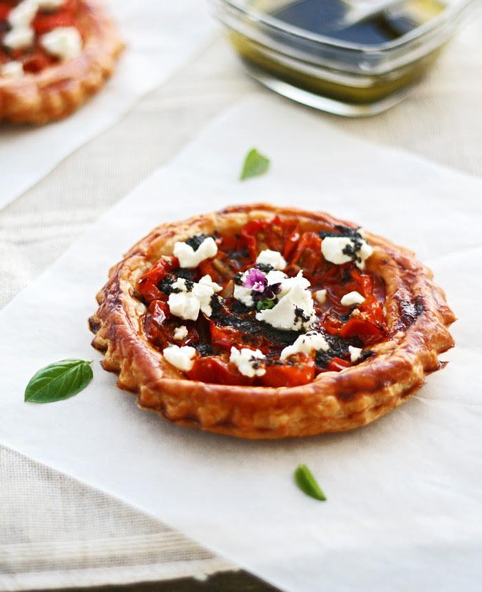 tartaleta de tomatitos con queso de cabra