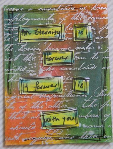 """An Eternity"" Project Life Card"