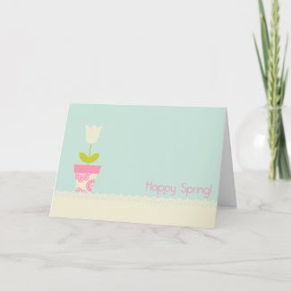 Happy Spring Greeting Card card