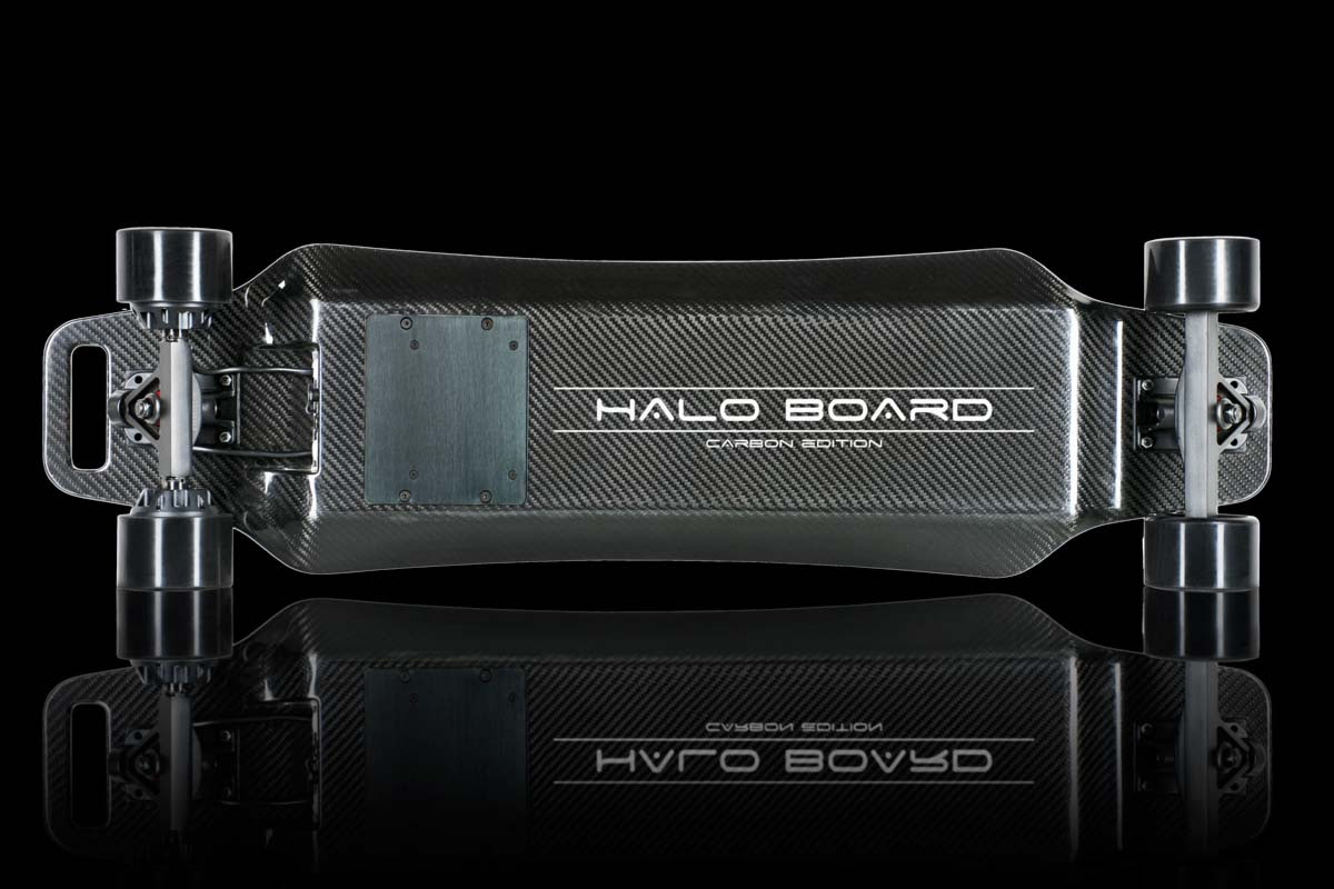 The all new Halo Board Carbon Fiber Electric Skateboard  Better than a Hoverboard?  Armchair