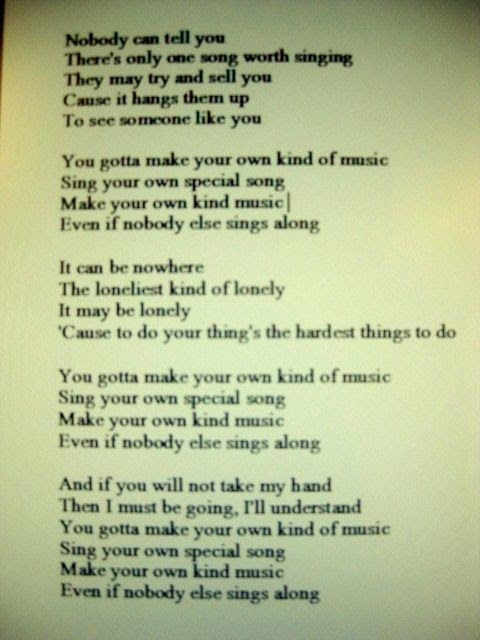 How To Make Up Your Own Song Lyrics