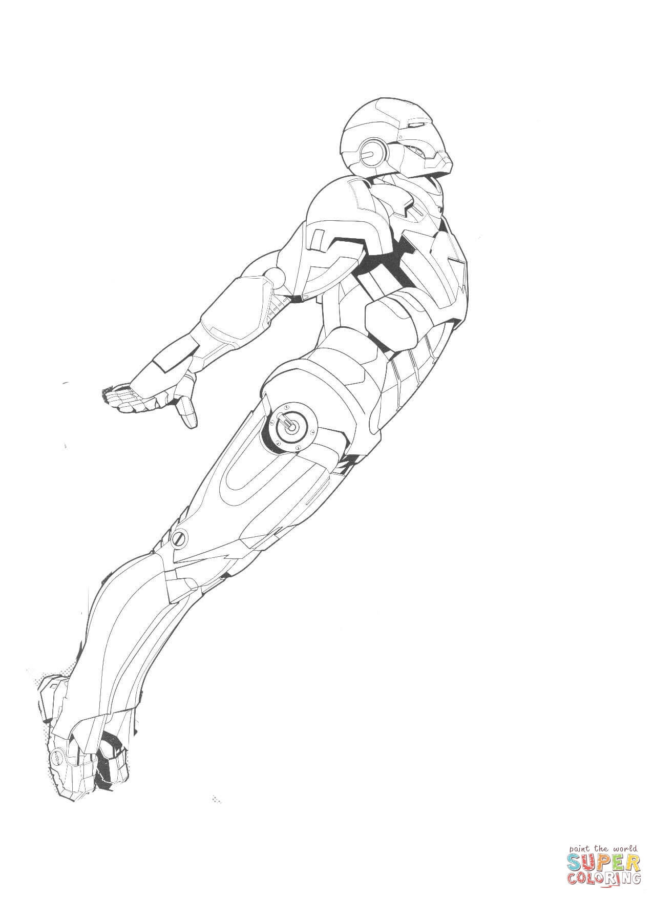 New Iron Man coloring page | Free Printable Coloring Pages