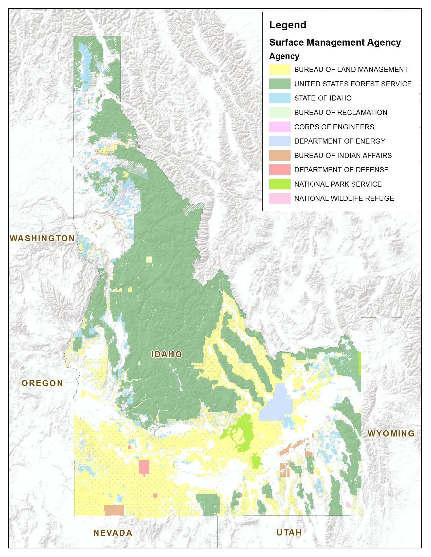 Blm Land Map Idaho Blm Idaho Map   World Map Gray