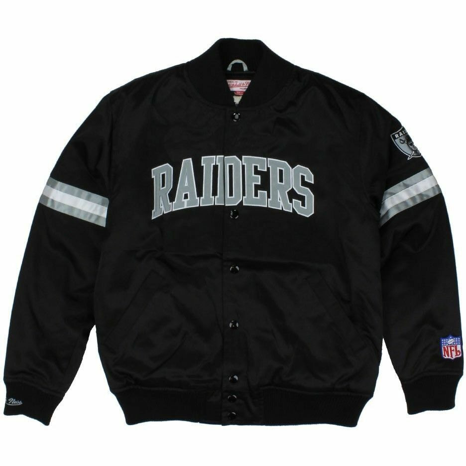 Oakland Raiders Authentic Mitchell and Ness NFL Jacket Size MLXL  eBay