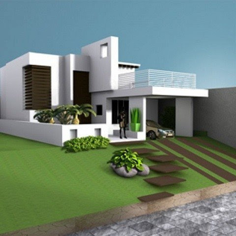 House Villa Residence Building Free 3d Model Id7056 Free Download