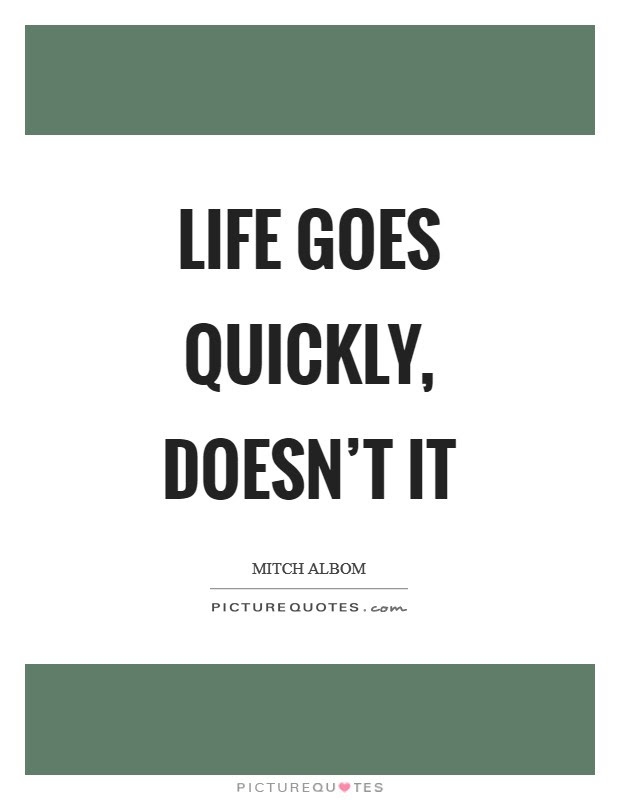 Life Goes So Fast Quotes