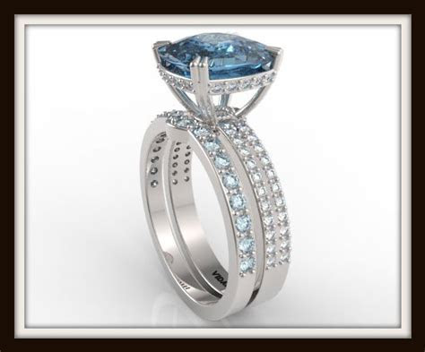 London Blue Topaz Wedding Ring Set   Vidar Jewelry