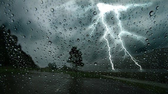 Severe thundershowers in several provinces today