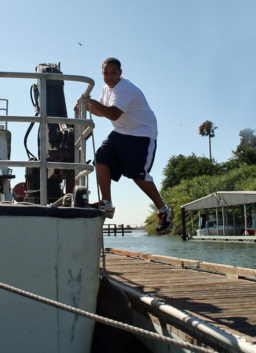 Gabe Going Ashore