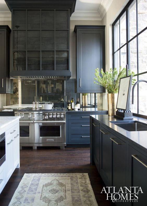 Remodelaholic | Dark Kitchen Cabinet Inspiration and ...