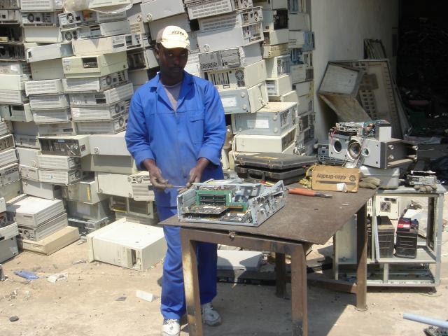 Centro africano de reciclagem de E-Waste