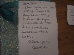 Note to Tooth Fairy