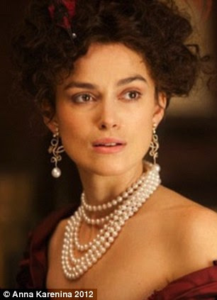 In the film, Keira Knightley, who plays Anna, wears piles of pearls and crystal jewelry that Banana Republic reinterpreted.
