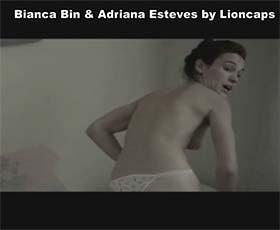 Bianca Bin e Adriana Esteves nuas no filme Canastra Suja