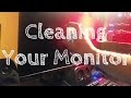 How to clean a computer monitor screen?