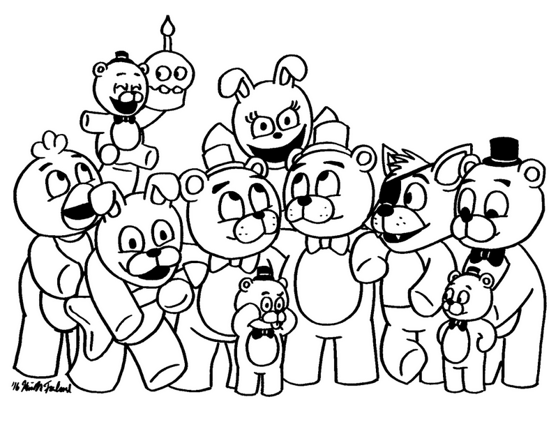 - Bonnie Coloring Sheets Five Nights At Freddys Black And White Kids  Butikwork Grig3.org - Coloring Pages
