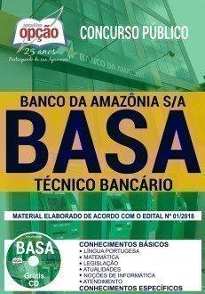 Apostila Concurso BASA 2018 | TÉCNICO BANCÁRIO
