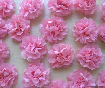 tissue paper flowers craft. DIY Tiny Tissue Paper Flowers