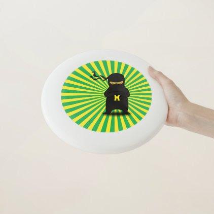 Monogram. Kawaii Cute Ninja for Nerd Geek. Wham-O Frisbee