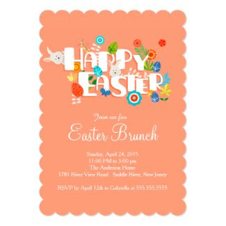 "Happy Easter Brunch Dinner Party Invitation 5"" X 7"" Invitation Card"