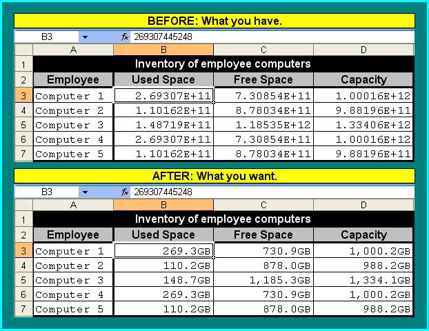 Formatting Large Numbers as Decimalized Gigabytes