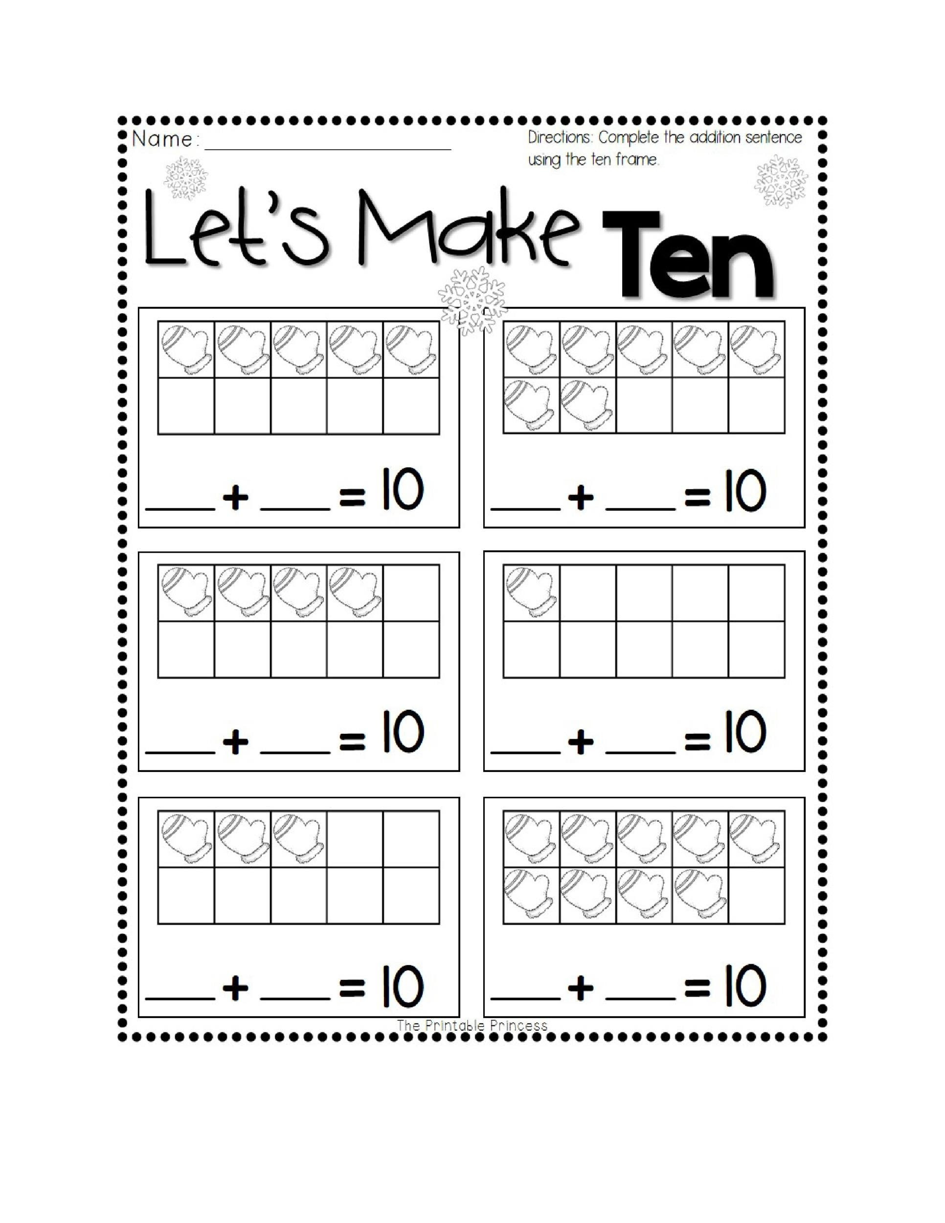 36 Printable Ten Frame Templates Free Template Lab