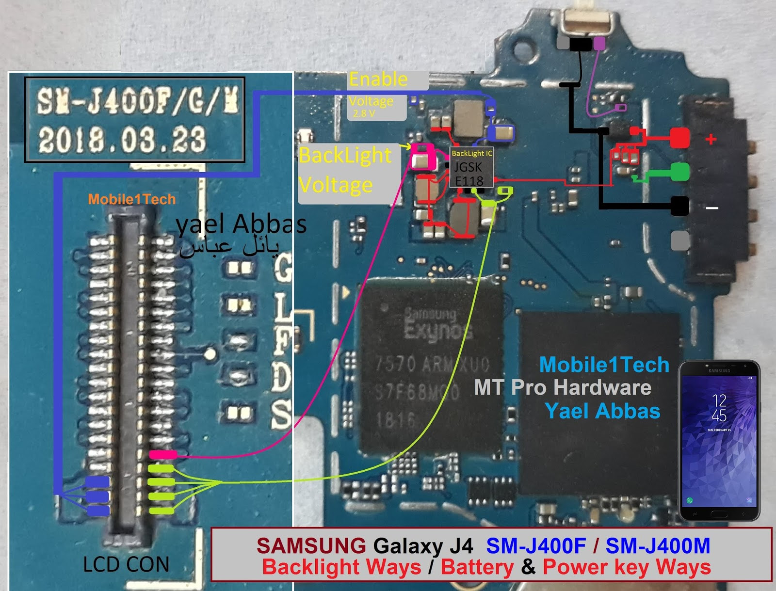 Samsung Galaxy J4 Power Button Solution Jumper Ways