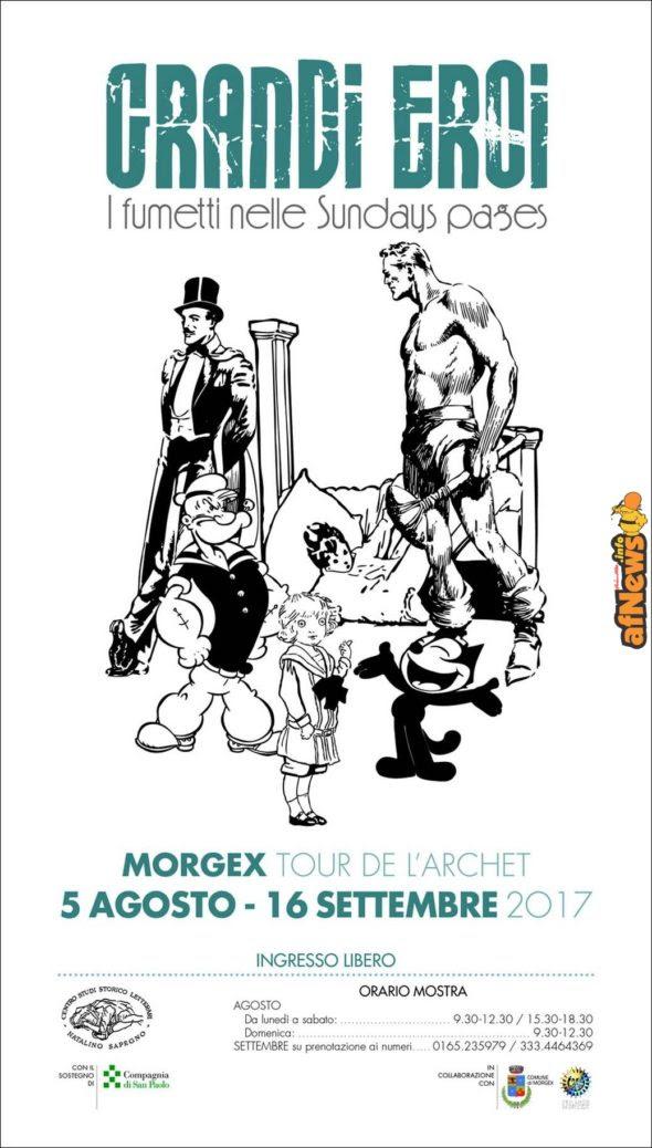 """Mostra sui """"Grandi eroi. I fumetti nelle Sundays pages"""" in Valle d'Aosta"""