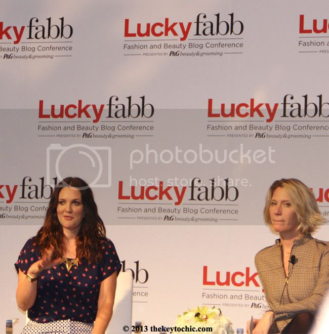 Lucky FABB West April 2013 Drew Barrymore and Brandon Holley.jpg