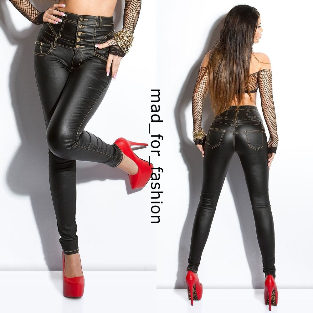 High waisted jeans zip at back steam