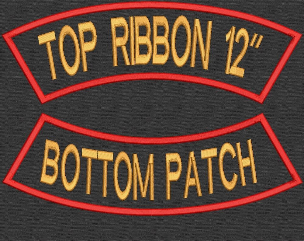 Custom Embroidered Rocker Set Name Patch Back Biker Motorcycle Tag Badge 12\u0026quot;  eBay